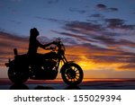 a silhouette of a woman driving ... | Shutterstock . vector #155029394