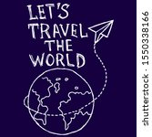 Let's Travel The World  Doodle