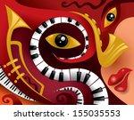 abstract jazz music art | Shutterstock .eps vector #155035553