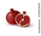 realistic colored juicy slice... | Shutterstock .eps vector #1550379659
