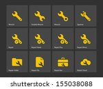 repair wrench icons. see also...