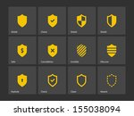 shield icons. see also vector...