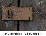 Closeup Of Old Rusty Door Hinge ...