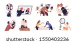 inner conflict flat vector... | Shutterstock .eps vector #1550403236