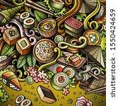 cartoon doodles japan food...   Shutterstock . vector #1550424659