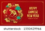 happy chinese new year 2020... | Shutterstock .eps vector #1550429966