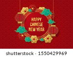 happy chinese new year paper... | Shutterstock .eps vector #1550429969