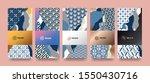 vector set packaging templates... | Shutterstock .eps vector #1550430716