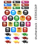 fast delivery icons and buttons | Shutterstock .eps vector #155043269