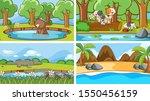 background scenes of animals in ...   Shutterstock .eps vector #1550456159