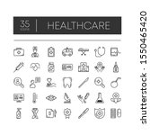set of 35 line icons of... | Shutterstock .eps vector #1550465420