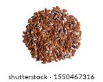 linseeds. flax seeds isolated... | Shutterstock . vector #1550467316