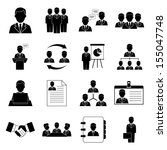 human resources and management...   Shutterstock .eps vector #155047748