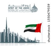 48 uae national day banner with ...   Shutterstock .eps vector #1550479559