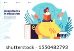 investments in education.... | Shutterstock .eps vector #1550482793