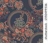 paisley ornamental seamless... | Shutterstock . vector #1550499536
