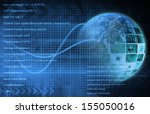 internet background with code... | Shutterstock . vector #155050016