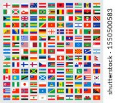 world flags collection. laws... | Shutterstock .eps vector #1550500583