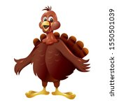 cute cartoon turkey cartoon... | Shutterstock .eps vector #1550501039