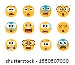 scared emoticon faces. vector... | Shutterstock .eps vector #1550507030