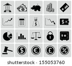 set of finance icons | Shutterstock .eps vector #155053760