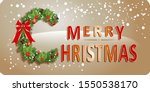 merry christmas greeting card... | Shutterstock .eps vector #1550538170