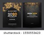 happy new 2020 year flyer... | Shutterstock .eps vector #1550553623