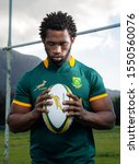 Small photo of CAPE TOWN, SOUTH AFRICA - 7 28 July 2015, Siya Kolisi, Springbok Rugby player, captained the national rugby side to win the 2019 Rugby World Cup in Japan as the first black African.