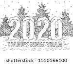 merry christmas and happy new... | Shutterstock .eps vector #1550566100