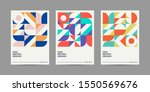 Set Of Retro Geometric Covers....