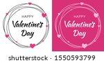 Valentines Day Card Design Set...