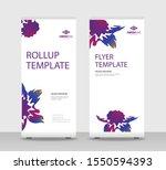 flower petals abstract shapes... | Shutterstock .eps vector #1550594393