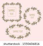 floral frames set   square ...   Shutterstock .eps vector #1550606816
