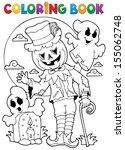 coloring book halloween...   Shutterstock .eps vector #155062748