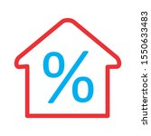 percent icon isolated on... | Shutterstock . vector #1550633483