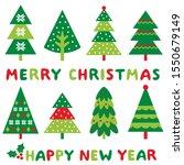 chrismas trees clip art and... | Shutterstock .eps vector #1550679149