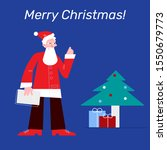 modern santa claus with... | Shutterstock .eps vector #1550679773