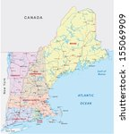 new england road map | Shutterstock .eps vector #155069909