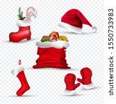 santa clothes like as gloves ... | Shutterstock .eps vector #1550733983