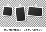 set of vintage photo frames... | Shutterstock . vector #1550739689