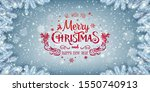 red christmas and new year text ... | Shutterstock .eps vector #1550740913