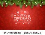 christmas vector composition.... | Shutterstock .eps vector #1550755526