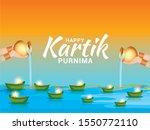 happy kartik purnima festival... | Shutterstock .eps vector #1550772110