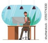businessman working on a laptop ... | Shutterstock .eps vector #1550774330