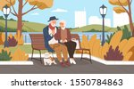 elderly man and woman have a... | Shutterstock .eps vector #1550784863