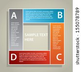 modern infographic template | Shutterstock .eps vector #155078789