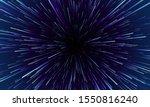 star warp. hyperspace jump ... | Shutterstock .eps vector #1550816240