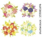 flower set | Shutterstock .eps vector #155081696