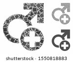 male medicine mosaic of unequal ... | Shutterstock .eps vector #1550818883