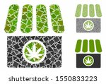 cannabis shop mosaic of joggly... | Shutterstock .eps vector #1550833223